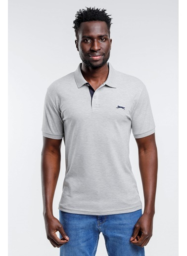 Slazenger Slazenger Bambi Erkek T-Shirt  Gri